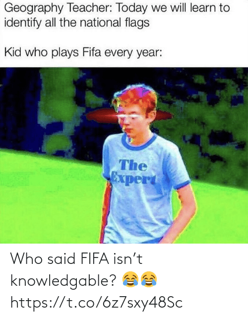 who: Who said FIFA isn't knowledgable? 😂😂 https://t.co/6z7sxy48Sc