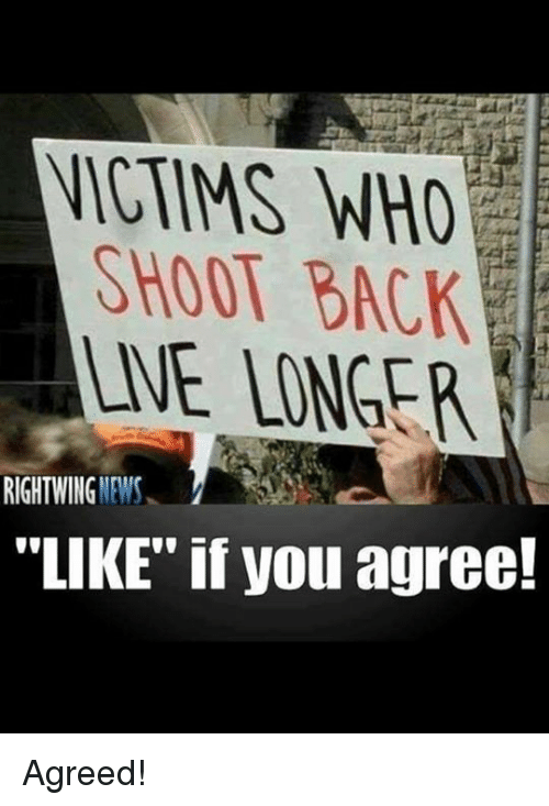 """News, Back, and Who: WHO  SHOOT BACK  ANE LONGER  NEWS  RIGHT WING  """"LIKE"""" if you agree! Agreed!"""