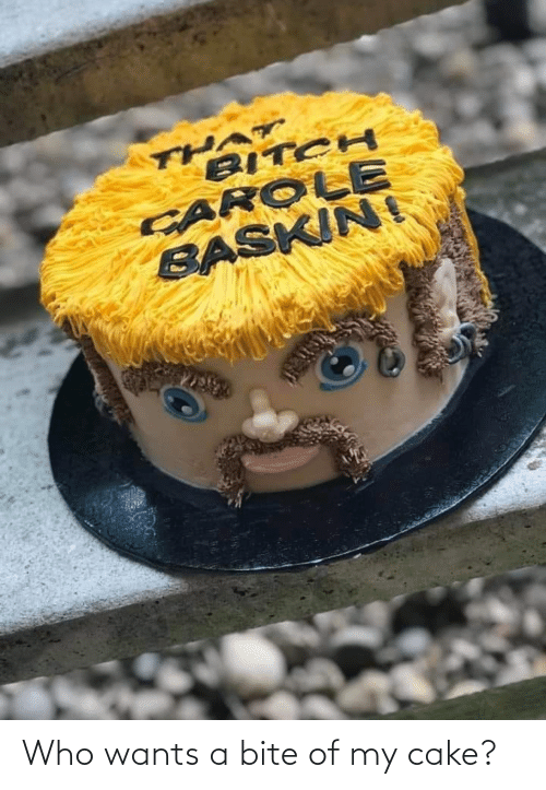 bite: Who wants a bite of my cake?