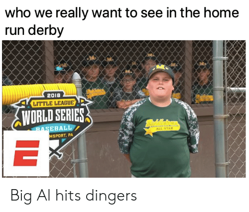 MLB: who we really want to see in the home  run derby  2018  LITTLE LEAGUE  WORLD SERIES  mealeoun  BASEBALL  ALL-STAR  MSPORT, PA  IL Big Al hits dingers