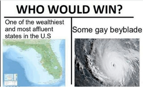 Memes, 🤖, and Beyblade: WHO WOULD WIN?  One of the wealthiest  and most affluent Some gay beyblade  states in the U.S