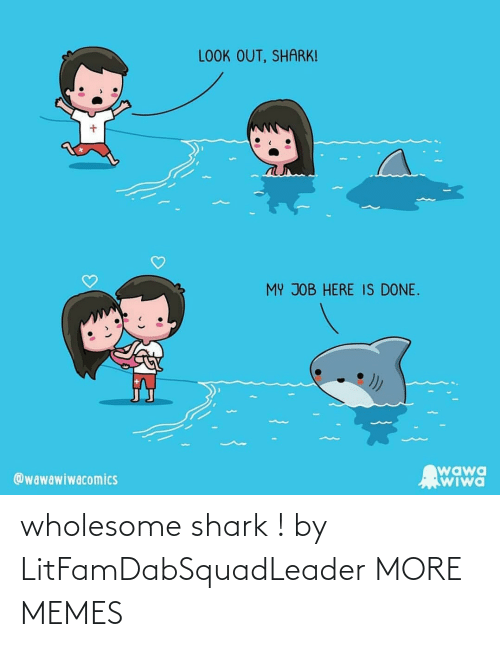 Hilarious: wholesome shark ! by LitFamDabSquadLeader MORE MEMES