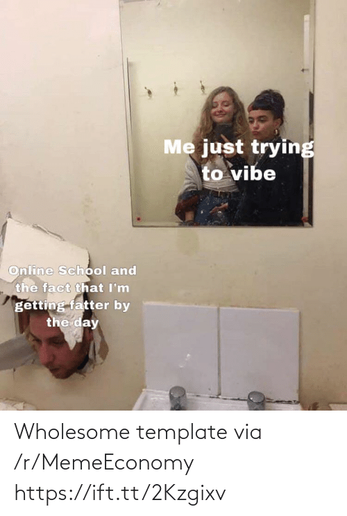 Wholesome, Template, and Via: Wholesome template via /r/MemeEconomy https://ift.tt/2Kzgixv