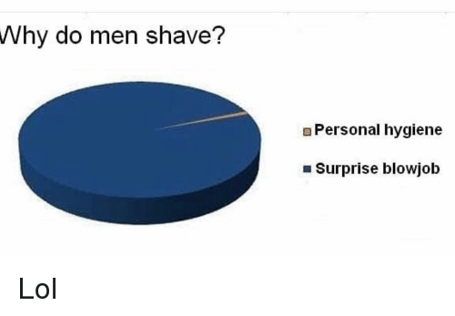 Blowjob, Funny, and Lol: Why do men shave?  EPersonal hygiene  Surprise blowjob Lol