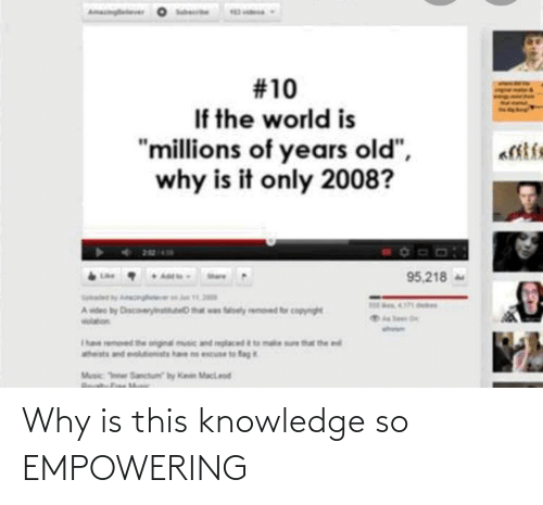 Empowering: Why is this knowledge so EMPOWERING