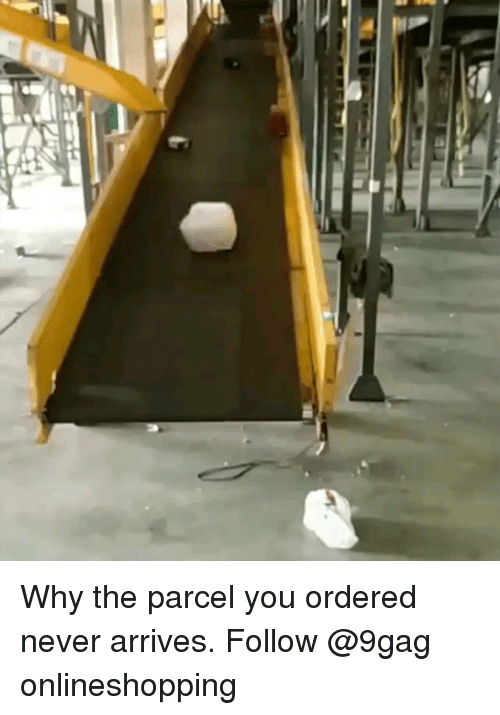 9gag, Memes, and Never: Why the parcel you ordered never arrives. Follow @9gag onlineshopping