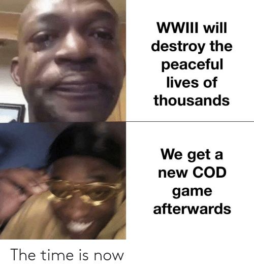 lives: WII will  destroy the  peaceful  lives of  thousands  We get a  new COD  game  afterwards The time is now