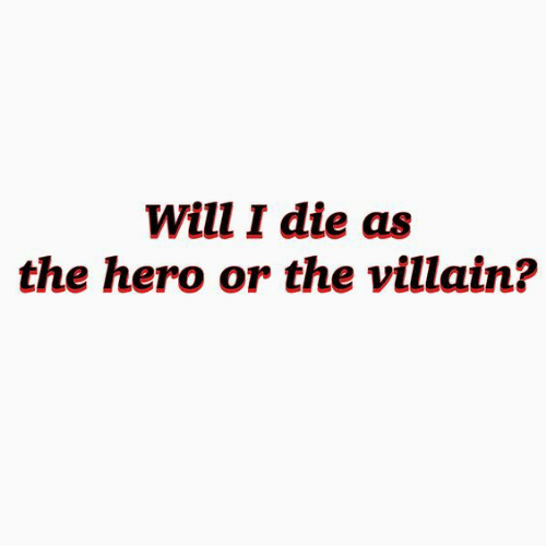 Villain, Hero, and Will: Will I die as  the hero or the villain?