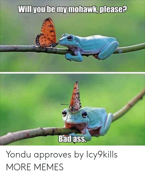 Badass: Will you be my mohawk, please?  Badass. Yondu approves by Icy9kills MORE MEMES
