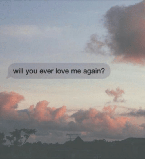 Love, Will, and You: will you ever love me again?