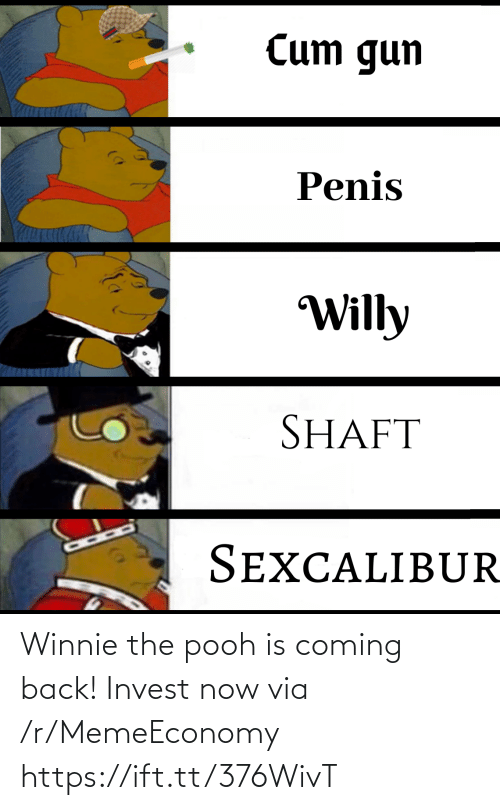 Winnie the Pooh: Winnie the pooh is coming back! Invest now via /r/MemeEconomy https://ift.tt/376WivT