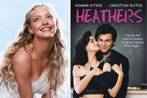 Winona Ryder, Heathers, and Christian Slater: WINONA RYDER  CHRISTIAN SLATER  HEATHERS  From the first  blush of romance  to the last squeeze  of the trigger
