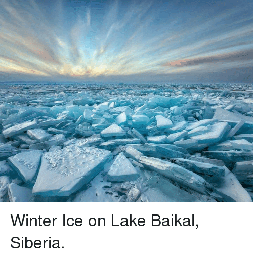 Memes, Winter, and 🤖: Winter Ice on Lake Baikal, Siberia.