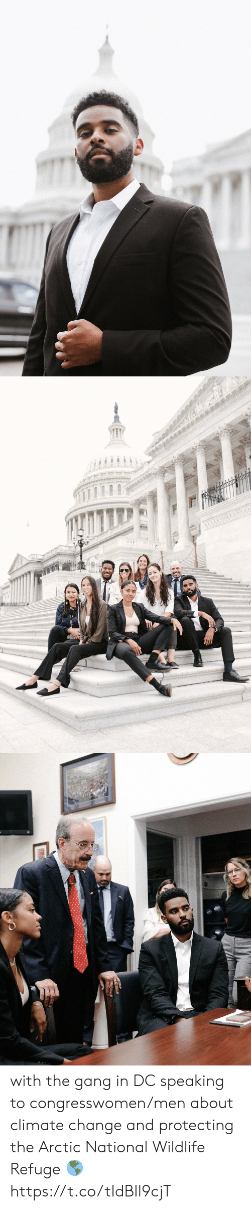 Funny, Gang, and Change: with the gang in DC speaking to congresswomen/men about climate change and protecting the Arctic National Wildlife Refuge 🌎 https://t.co/tIdBIl9cjT