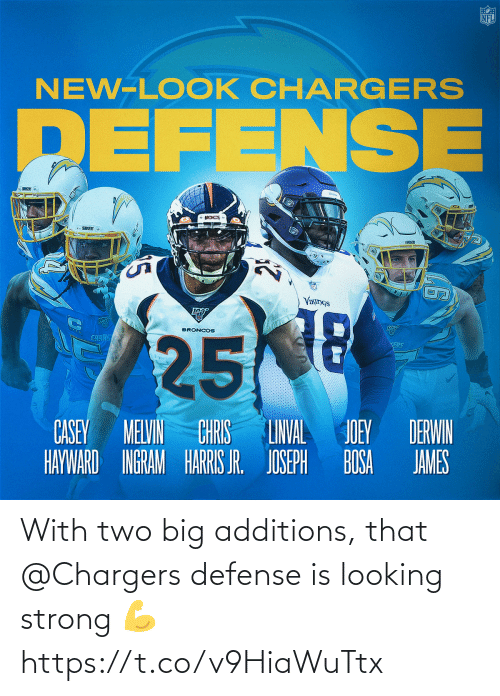 looking: With two big additions, that @Chargers defense is looking strong 💪 https://t.co/v9HiaWuTtx