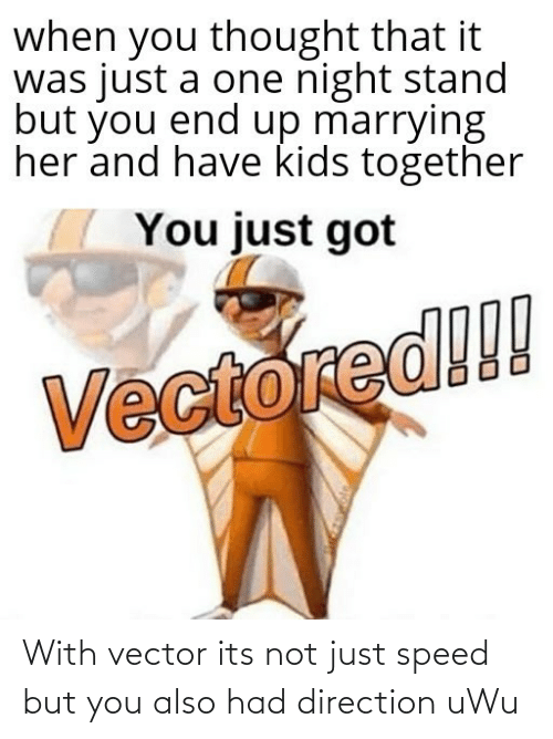 speed: With vector its not just speed but you also had direction uWu