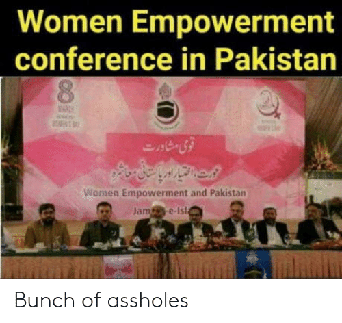 Pakistan, Women, and Empowerment: Women Empowerment  conference in Pakistan  Women Empowerment and Pakistan  Jame-Ist Bunch of assholes