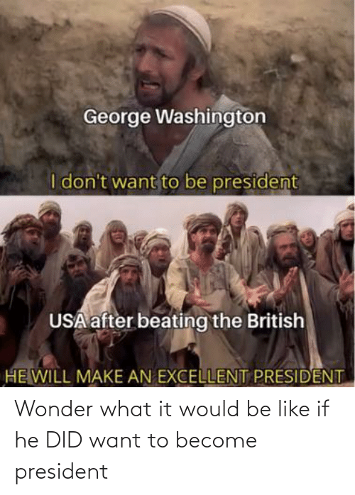 Wonder: Wonder what it would be like if he DID want to become president
