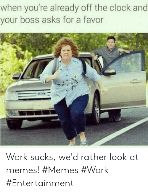 sucks: Work sucks, we'd rather look at memes! #Memes #Work #Entertainment