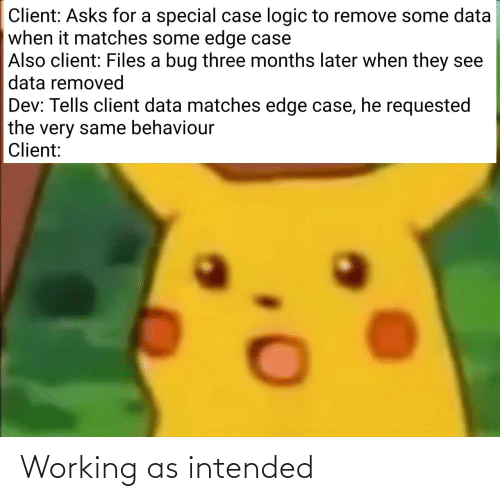 working: Working as intended