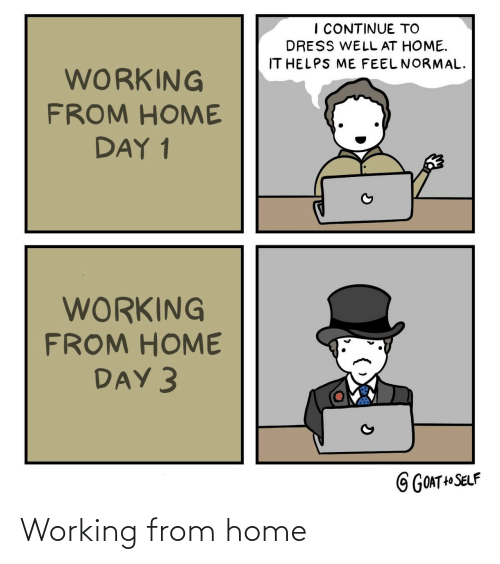 working: Working from home