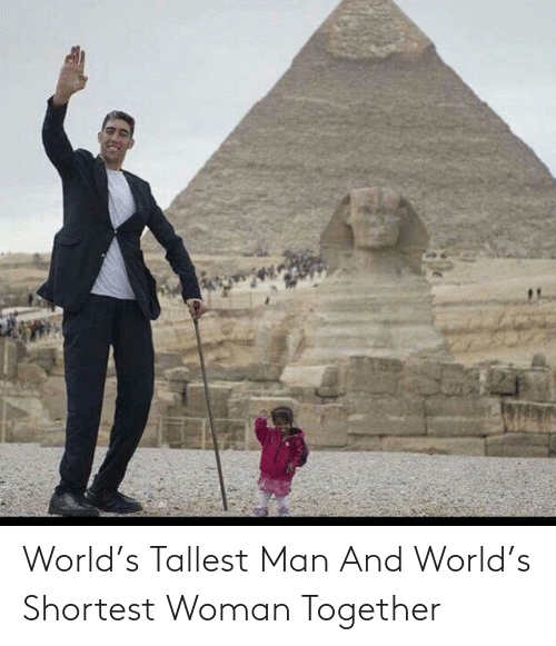 together: World's Tallest Man And World's Shortest Woman Together