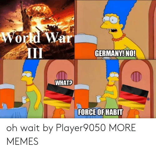 Dank, Memes, and Target: World War  GERMANY! NO!  WHAT?  FORCE OF HABIT oh wait by Player9050 MORE MEMES