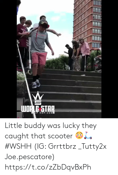 Scooter, Wshh, and Star: WORLG STAR  IP HOP.COM Little buddy was lucky they caught that scooter 😳🛴 #WSHH (IG: Grrttbrz  _Tutty2x Joe.pescatore) https://t.co/zZbDqvBxPh