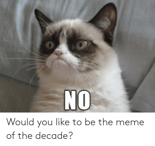 To Be: Would you like to be the meme of the decade?