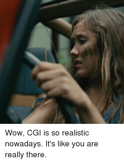 Funny, Jurassic World, and Wow: Wow, CGI is so realistic nowadays. It's like you are really there.