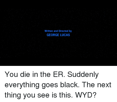 Wyd, Black, and George Lucas: Written and Directed by  GEORGE LUCAS