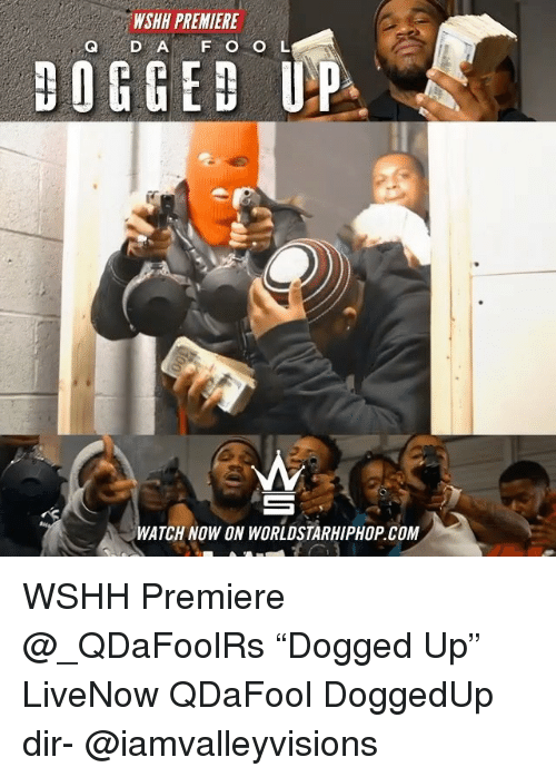 "Memes, Worldstarhiphop, and Wshh: WSHH PREMIERE  Q D A F O O L  DOGGED UP  WATCH NOW ON WORLDSTARHIPHOP COM WSHH Premiere @_QDaFoolRs ""Dogged Up"" LiveNow QDaFool DoggedUp dir- @iamvalleyvisions"