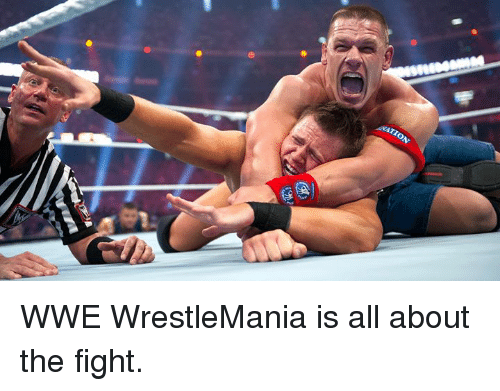 World Wrestling Entertainment, Wrestlemania, and Fight: WWE WrestleMania is all about the fight.