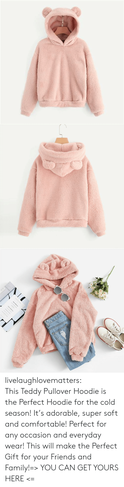 Comfortable, Family, and Friends: www.w. livelaughlovematters:  ThisTeddy Pullover Hoodie is the Perfect Hoodie for the cold season! It's adorable, super soft and comfortable! Perfect for any occasion and everyday wear! This will make the Perfect Gift for your Friends and Family!=> YOU CAN GET YOURS HERE <=