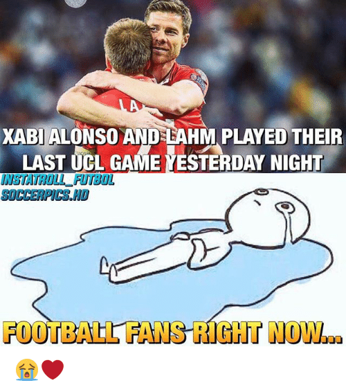 andes: XABI ALONSO ANDES BAHM PLAYED THEIR  LAST UCL GAME YESTERDAY NIGHT  FOOTBALL FANSTICHT N 😭❤️