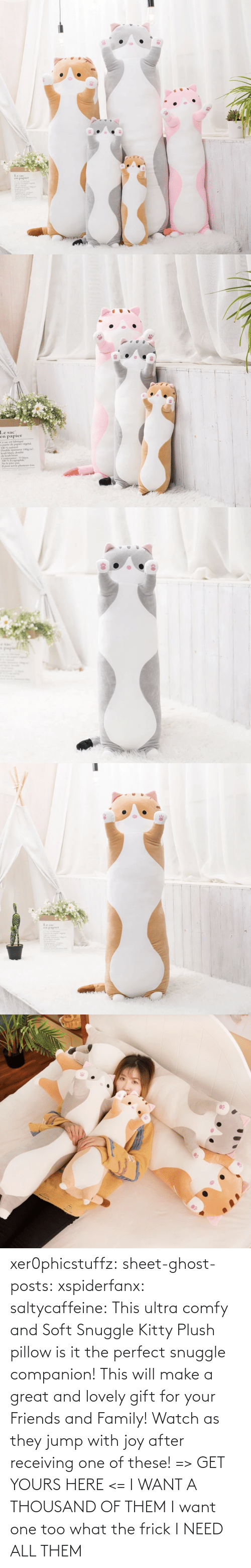 Posts: xer0phicstuffz:  sheet-ghost-posts: xspiderfanx:  saltycaffeine:  This ultra comfy and Soft Snuggle Kitty Plush pillow is it the perfect snuggle companion! This will make a great and lovely gift for your Friends and Family! Watch as they jump with joy after receiving one of these! => GET YOURS HERE <=    I WANT A THOUSAND OF THEM  I want one too what the frick    I NEED ALL THEM