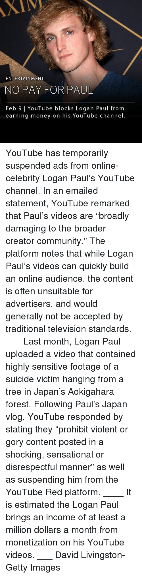 """Community, Memes, and Money: XIV  ENTERTAINMENT  NO PAY FOR PAUL  Feb 9 