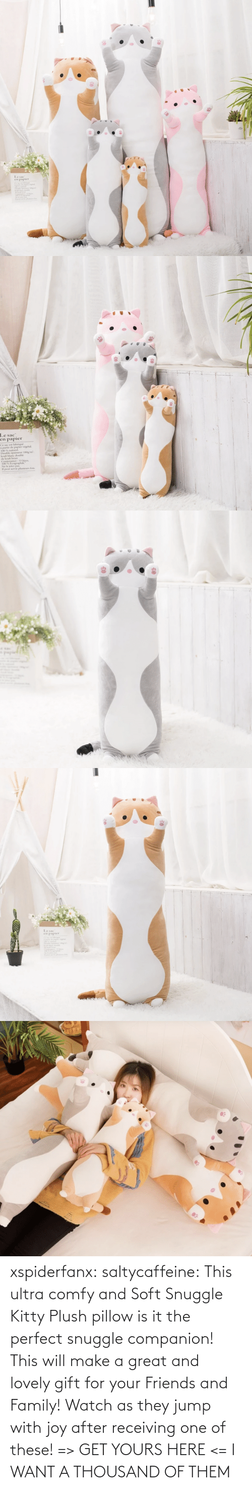 make a: xspiderfanx:  saltycaffeine: This ultra comfy and Soft Snuggle Kitty Plush pillow is it the perfect snuggle companion! This will make a great and lovely gift for your Friends and Family! Watch as they jump with joy after receiving one of these! => GET YOURS HERE <=    I WANT A THOUSAND OF THEM