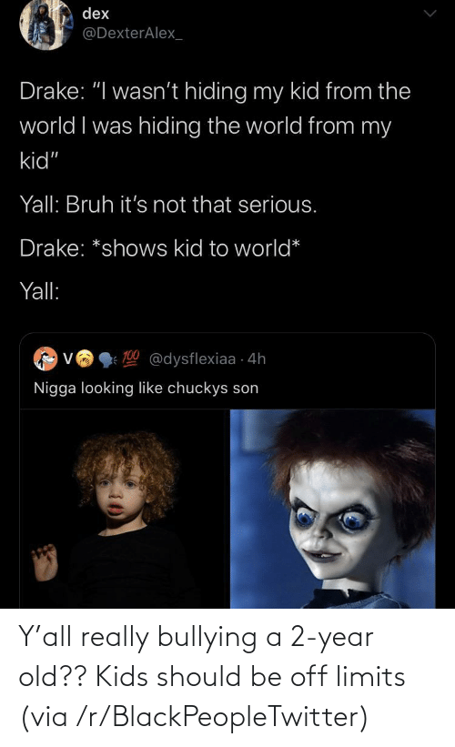 year-old-kids: Y'all really bullying a 2-year old?? Kids should be off limits (via /r/BlackPeopleTwitter)