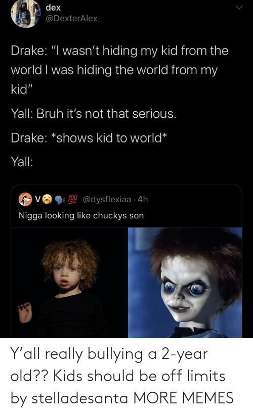 year-old-kids: Y'all really bullying a 2-year old?? Kids should be off limits by stelladesanta MORE MEMES