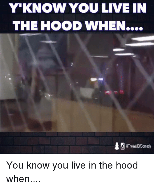 Funny, The Hood, and In the Hood: Y KNOW YOU LIVE IN  THE HOOD WHEN....  eTheWali0fComedy You know you live in the hood when....