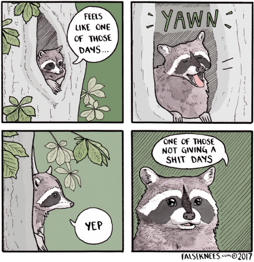 Shit, One, and Yawn: YAWN  FEELS  LIKE ONE  OF THOSE  DANS.  asts  ONE OF THOSE  NOT GIVING A  SHIT DAYS  YEP  FALSEKNEES.SOMO2017