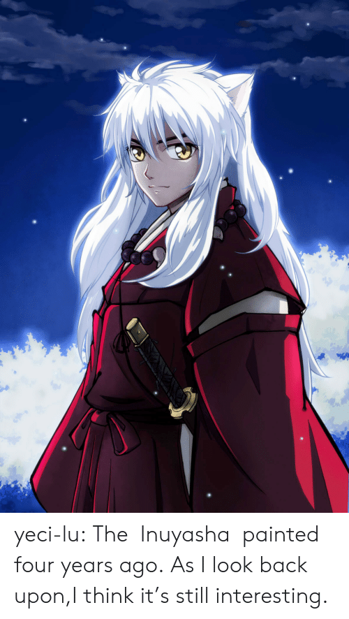 Target, Tumblr, and Blog: yeci-lu:  The   Inuyasha  painted four years ago.  As I look back upon,I think it's still interesting.