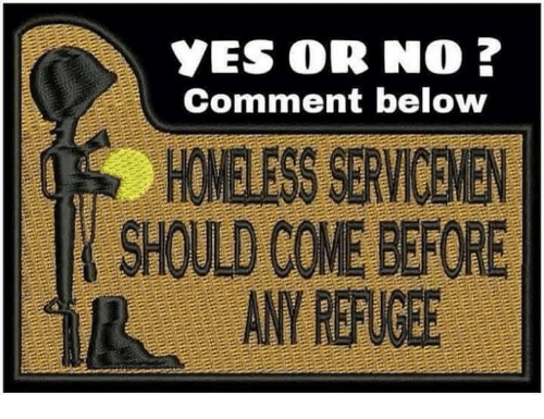 Homeless, Yes, and Comment: YES OR NO ?  Comment below  HOMELESS SERVICENEN  SHOULD COME BEFORE