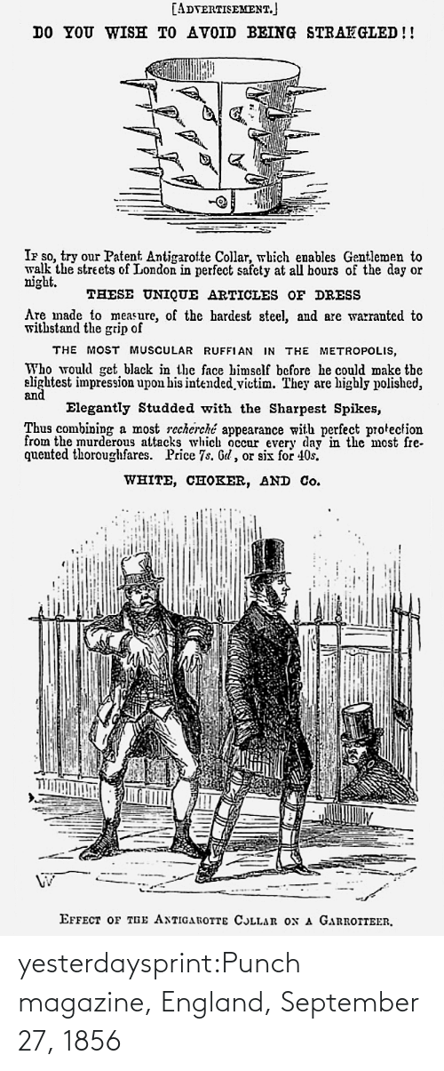 England: yesterdaysprint:Punch magazine, England,  September 27, 1856
