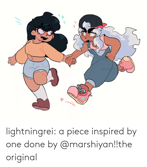 piece: yhtning/a lightningrei:  a piece inspired by one done by @marshiyan!!the original