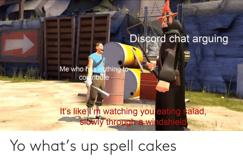 cakes: Yo what's up spell cakes