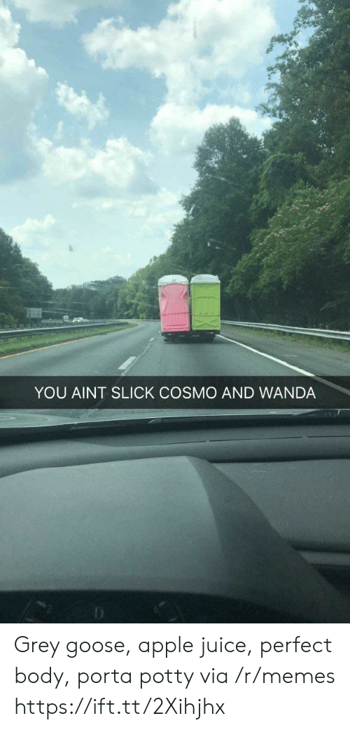 Slick: YOU AINT SLICK COSMO AND WANDA Grey goose, apple juice, perfect body, porta potty via /r/memes https://ift.tt/2Xihjhx