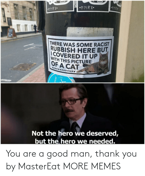 Thank You: You are a good man, thank you by MasterEat MORE MEMES