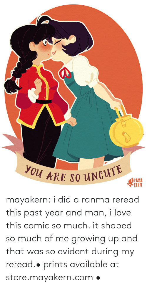 Growing Up, Love, and Target: you ARE SO UNCUTE  MAYA  KERN mayakern:  i did a ranma reread this past year and man, i love this comic so much. it shaped so much of me growing up and that was so evident during my reread.• prints available at store.mayakern.com •